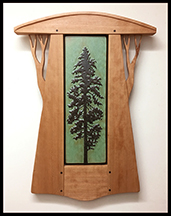 Framed Pine Tree Art Tile Click To Enlarge