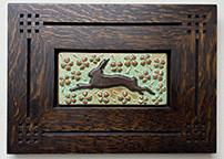 Framed Rabbit in Clovers Tile Click To Enlarge