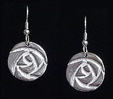 Arts & Crafts Mackintosh Rose Earrings
