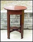 Arts & Crafts Round Table Mission Oak Stand