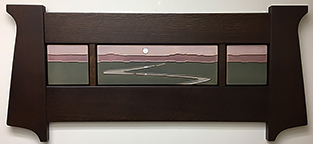 Landscape Stream Byrdcliffe Inspired Framed Tile Display Click To Enlarge