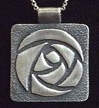 Arts and Crafts Glasgow Rose Necklace