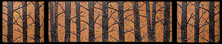 Arts & Crafts Tile Murals & Sets, Arts & Crafts Tile Triptychs