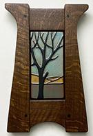 Tree Mountain Landscape Framed Art Tile Click To Enlarge
