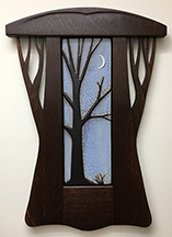 Tree With Crescent Moon Framed Tile Click To Enlarge