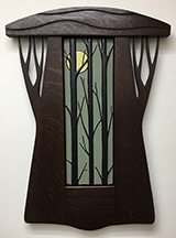 Forest Trees With Full Moon Framed Tile Click To Enlarge