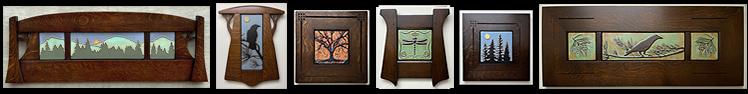 Click Here For Available Now Framed Art Tiles - Framed Arts & Crafts Tiles