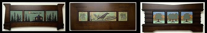 Click Here For Framed Tile Murals & Sets - Framed Arts & Crafts Tile Murals and Tile Triptychs