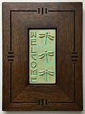 Framed Welcome Dragonfly Tile Click To Enlarge