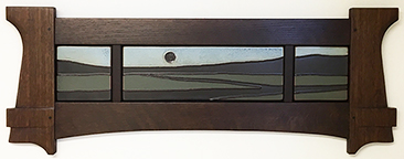 Landscape Stream Twilight Sky Framed Tile Display Click To Enlarge