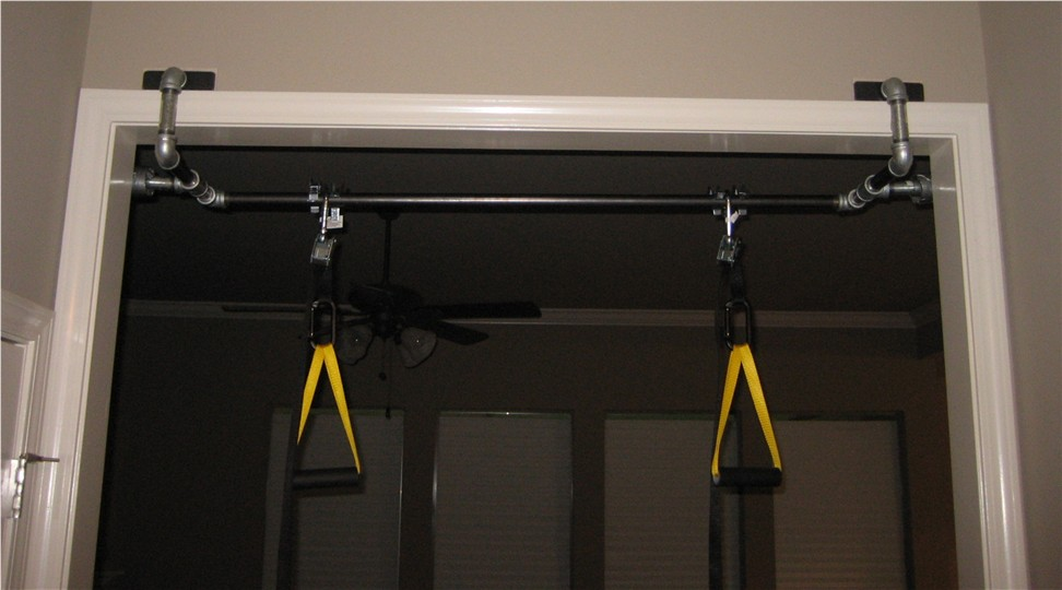 Wide Doorway Chinup/Web Blast Bar & Bodyweight Pezcame.Com