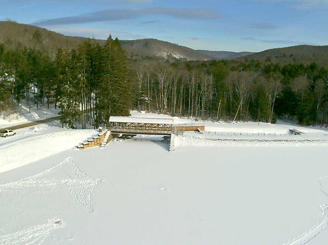 Covered Bridge by Drone