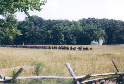 Swingers in wheatfield in