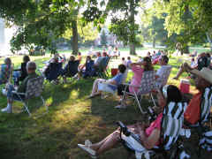 Picture of the crowd under the trees