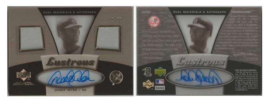 2008 Upper Deck Spectrum Retrospectrum #DJ52 Derek Jeter New York Yankees Card