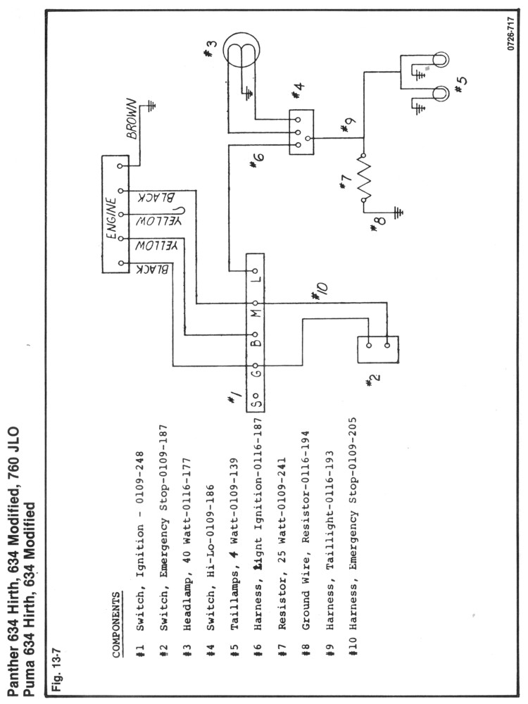 rupp 634 wt wiring diagram    no lights         need some