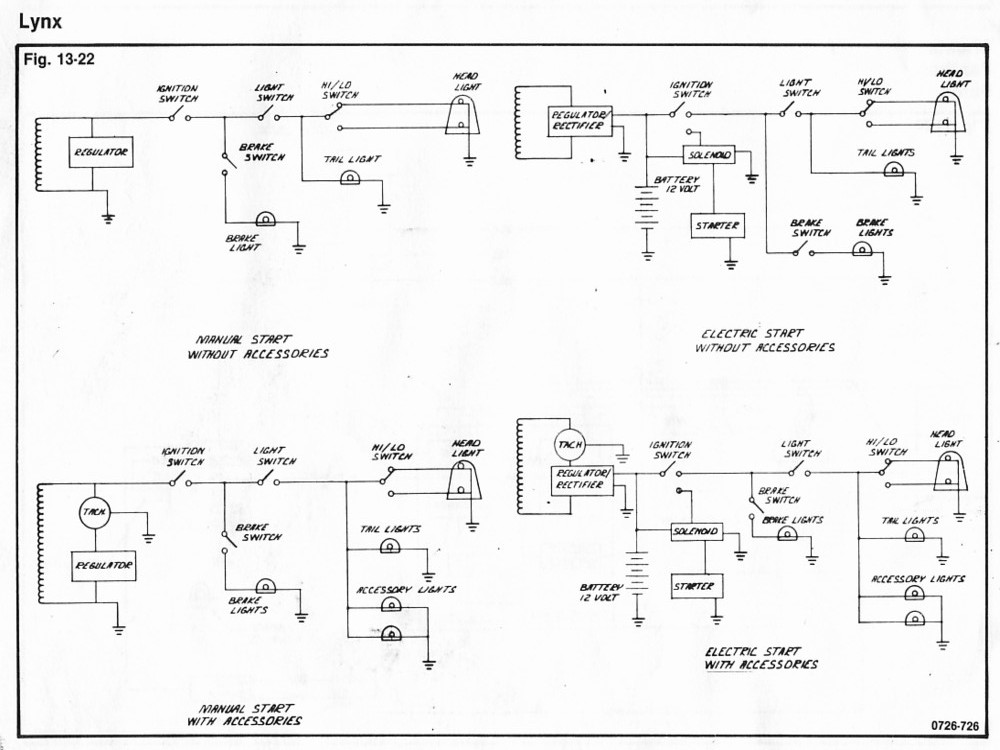 73LynxWiring 73 lynx wiring diagram Arctic Cat Snowmobile 4 Stroke at bakdesigns.co