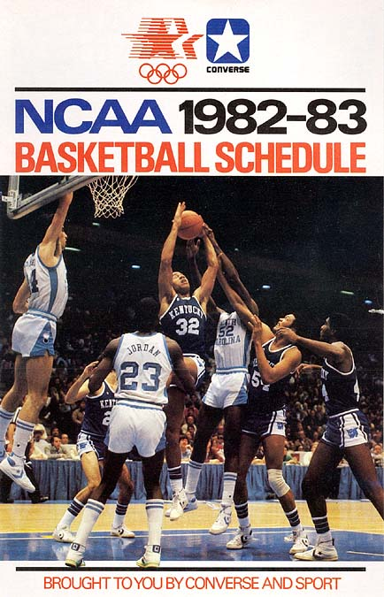 1982-83 Converse NCAA basketball schedule NNO