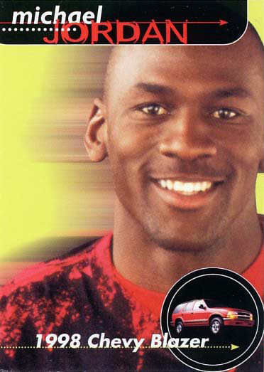 1998 Upper Deck Michael Jordan Chevy Blazer NNO