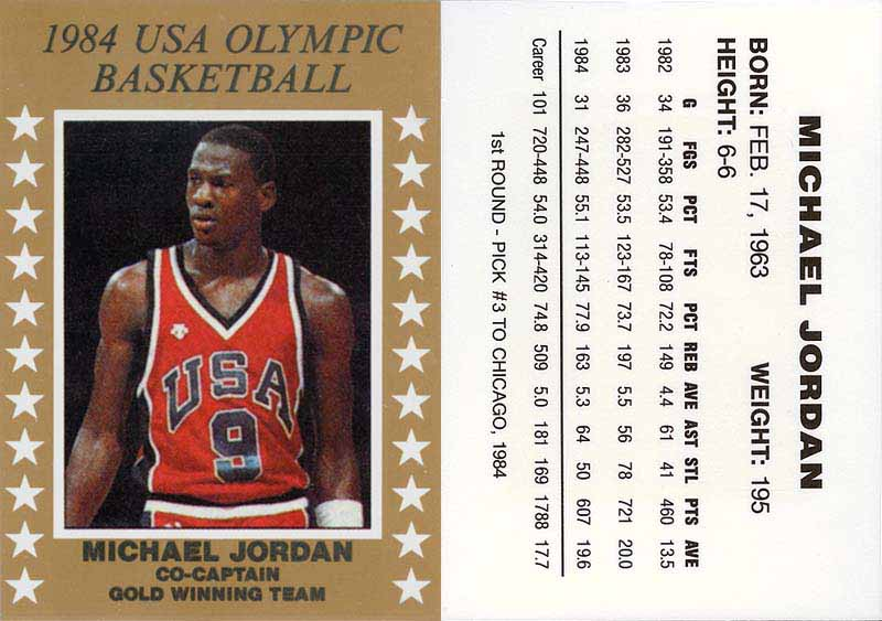 057fa4324e0 1984 'USA Olympic Basketball - Co-Captain Gold Winning Team' NNO ...