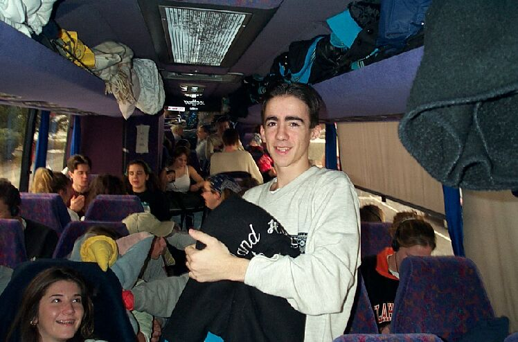 Me on the Band Bus to Florida