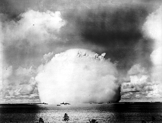 Bikini atoll nuclear tests something is