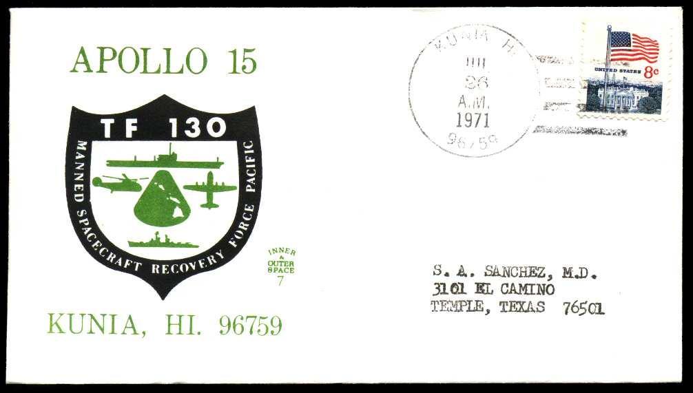 Apollo 15 Cachets