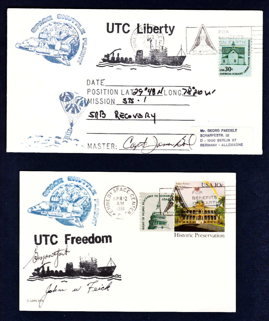 Space Cover 351: SRB Retrieval Ship Covers - collectSPACE