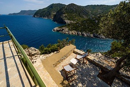 CasaMilos Stone Chalets, Alonissos Old Town, Yialia or Gialia beach on the island of Alonissos in Greece