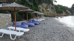Megalas Mourtias beach on the island of Alonissos in Greece