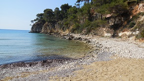 Chrisi Milia beach on the island of Alonissos in Greece