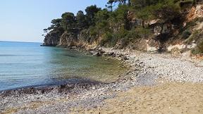 Chrisi Milia beach on the island of Alonissos in Greece