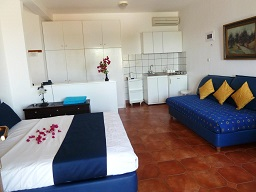 Milia Bay Hotel Apartments, Chrisi Milia beach on the island of Alonissos in Greece