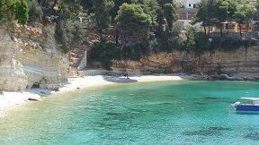 Votsi beach on the island of Alonissos in Greece
