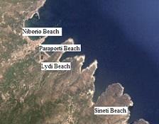 Andros Chora Beaches, Stranden