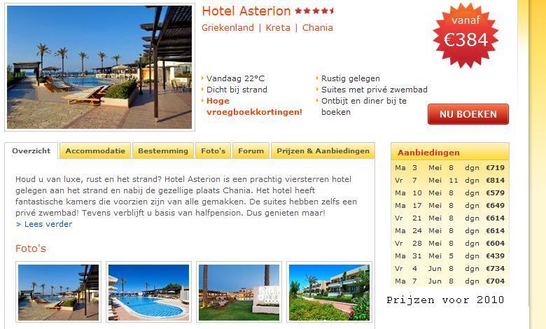 Asterion Hotel Platanias Kreta