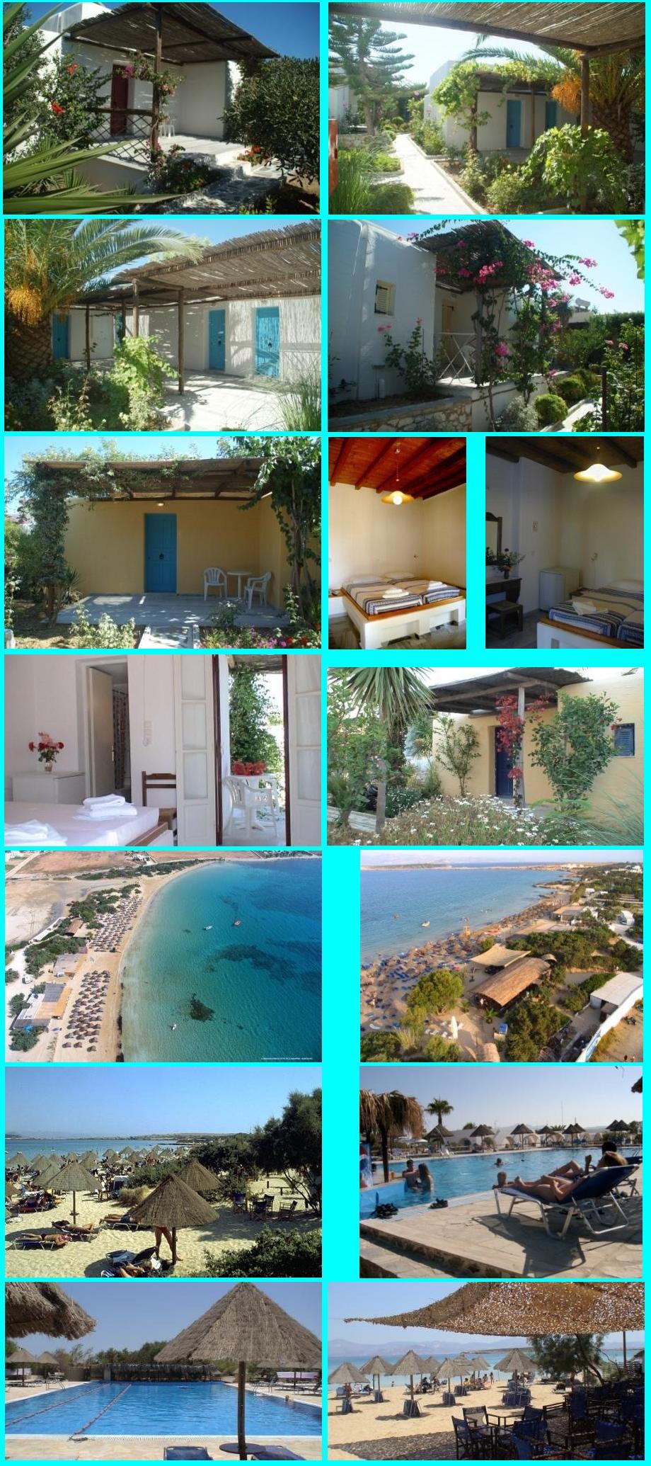 Paros Hotels: Surfing Beach Village Paros - Santa Maria Beach (even buiten Naoussa) - ook voor duikers, goede beoordelingen