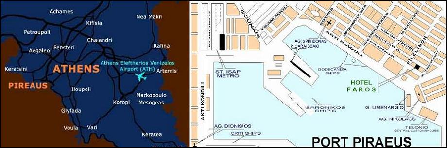 map of Piraeus