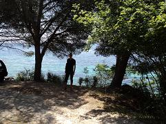 Corfu, webmaster Hans Huisman in Nissaki