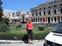 Corfu, webmaster Hans Huisman in Corfu Town
