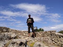 Corfu, webmaster Hans Huisman in Angelokastro