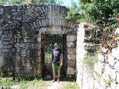 Corfu, webmaster Hans Huisman in Kassiopi