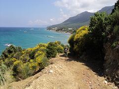 Corfu, webmaster Hans Huisman in Kanouli