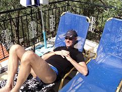Corfu, webmaster Hans Huisman in Amalia Complex in Nissaki