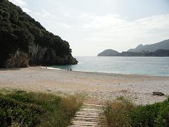 Corfu, Rovinia Beach near Liapades