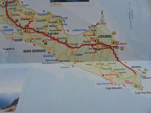 Corfu plattegrond, Corfu map
