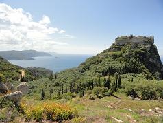 Corfu, Paleokastritsa, Angelokastro Fortress