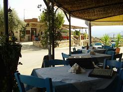 Ta Aptera Taverna in Megala Chorafia, Crete, Kreta.