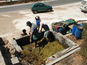 Antiparos wine making, Antiparos wijn maken