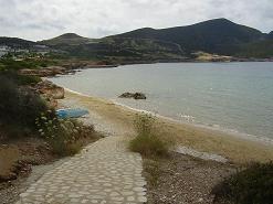 Stranden bij Agios Georgios in Antiparos